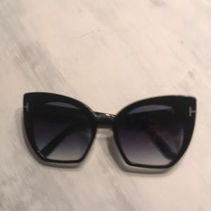 Tom Ford Samantha Blk Cat Eye Sunglasses